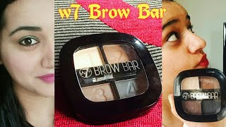 Yay or Nay ? w7 Brow Bar Review   Honest Review- w7 Brow Bar Stencil Kit