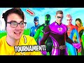 I Hosted A CUSTOM HERO SKINS ONLY Tournament in Fortnite... (Soft Aimer??)