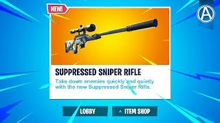 "NEW ""SUPPRESSED SNIPER RIFLE""  // Pro Console Player // 1600+ Wins (Fortnite Battle Royale LIVE)"