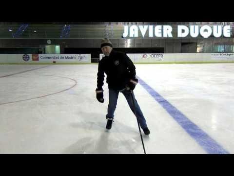 Como frenar en hockey hielo