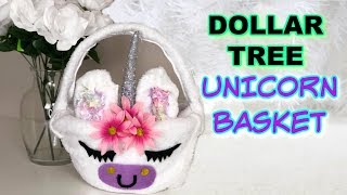 Dollar Tree Diy Unicorn Easter Basket + Easter Baskets 2020