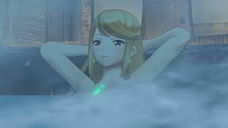 Xenoblade Chronicles 2 - Nia, Poppi, And Mithra/Pyra Visit The Hot Spring