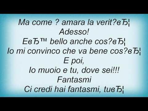 Renato Zero - Fantasmi Lyrics