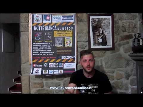 immagine di anteprima del video: Video intervista presentazione Notte Bianca 2018 Laurenzana 13...