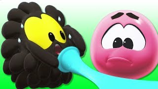 Learn & Play with SQUISHY Balls | Colorful Giant BALLOON Burst | Funny Cartoons by Cartoon Candy
