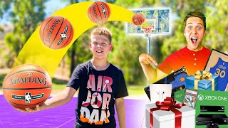 Make The TRICKSHOT, I'll BUY YOU ANYTHING w/ 10 Year Old Subscriber!