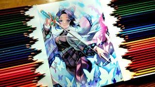 Shinobu Kocho  - (Demon Slayer: Kimetsu no Yaiba) - Drawing - Shinobu Kochou ( Kimetsu no Yaiba/Demon Slayer ) [ 鬼滅の刃 ]