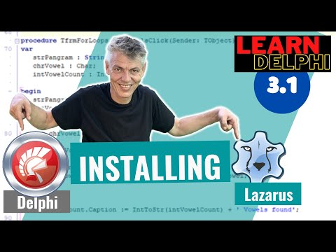 Delphi Programming Tutorial – Unit 3.1: Installing Delphi or Lazarus