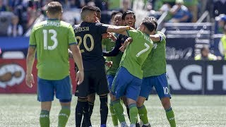 Cristian Roldan Shown Red Card Following Confrontation Vs LAFC