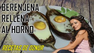 BERENJENA RELLENA CON HUEVO Y CARNE | recetas de cocina faciles rapidas y economicas de hacer