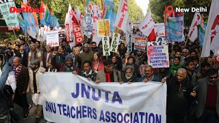 Citizens March At Mandi House Against JNU  VC, Fee Hike