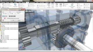 Autodesk Inventor Gear Box Animation