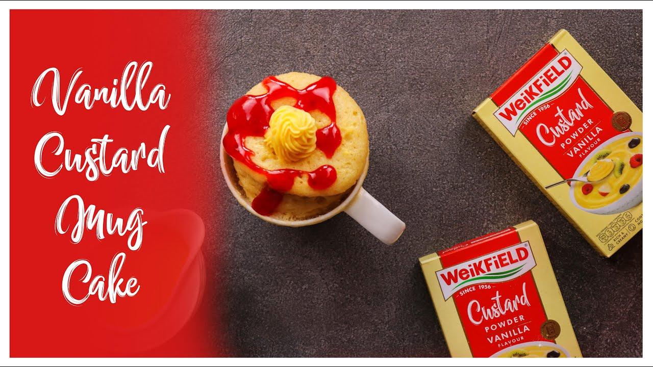 Vanilla Custard Mug Cake Youtube Video