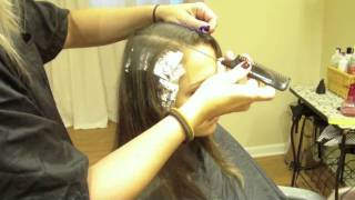 Caramel Color Partial Highlights On Medium Brown, Virgin Hair (Hair Tutorial)