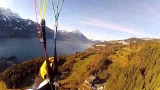 Paragliding Flight from Niederhorn to Interlaken