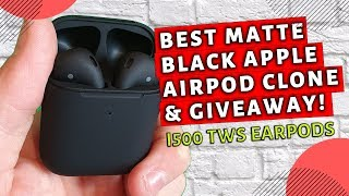 Best Matte Black Airpod Clone Plus Giveaway  |  I500 TWS