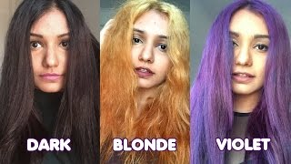 Dark Hair To Blonde To Violet Hair | Manic Panic