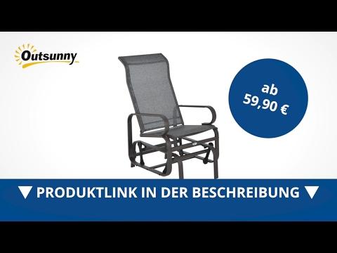 Outsunny Metall Schaukelstuhl Relaxstuhl Gartenstuhl Garten Schaukel Stuhl braun - direkt kaufen!