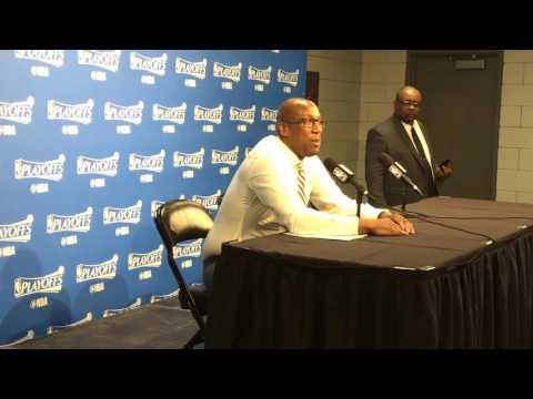 MIKE BROWN interview, Golden State Warriors (4-0) postgame, Game 4 vs Portland Trail Blazers