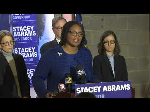 Stacey Abrams' campaign says it will continue to fight to get all outstanding votes counted in the Georgia governor's race and won't accept former Secretary of State Brian Kemp's declaration of victory. (Nov. 8)