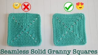 Blossom Crochet: Perfect SEAMLESS & Reversible SOLID GRANNY SQUARES