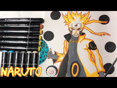 Drawing: Naruto Sage of Six Paths Sage Mode | Avo's Channel