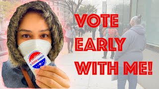 EARLY VOTING in NEW YORK CITY |  2020 election | Vote with me!