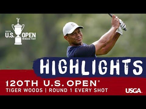 2020 U.S. Open, Round 1: Every Tiger Woods Shot
