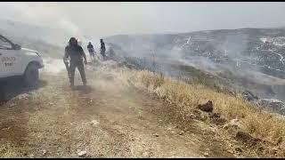 Arabové založili požár poblíž židovské čtvrti v Jiccharu