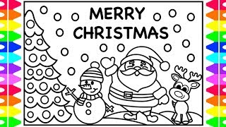 christmas coloring pages for kids santa snowman reindeer