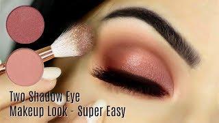 Beginners Eye Makeup Tutorial Using One Matte And One Metallic   How To Apply Eyeshadow