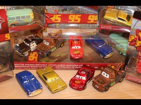 Mattel Disney Cars Birthday Radiator Springs Series - McQueen, Mater, Doc, Ramone, Fillmore