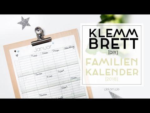 5 Klemmbrett DIY Ideen für Familienkalender - selber bauen // delari