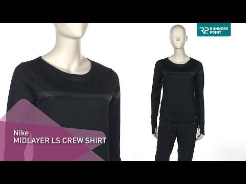 Nike ls Midlayer Crew Shirt Damen