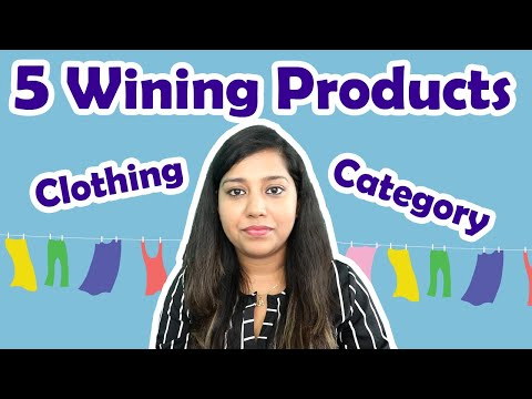 Clothing Category 👕 Top 5 Winning products for Selling on Amazon    Apparel to Sell on Amazon