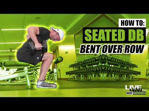 How To Do A SEATED DUMBBELL BENT OVER ROW | Exercise Demonstration Video and Guide