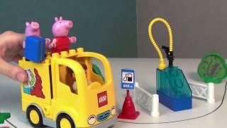 Мультик с игрушками Свинка Пеппа и Джордж Изучаем дорожные знаки Новые серии на русском языке