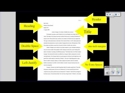 formatting for research papers