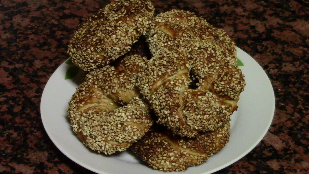 ROSCAS DE PAN TURCO (SIMIT) | recetas de cocina faciles rapidas y economicas de hacer - comidas