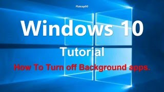Windows 10 Apps  Turn off Unwanted Running Background Apps How To/