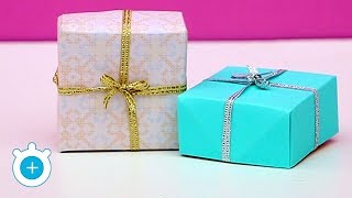How To Make Gift Box With Paper - Very Easy | LampZoom