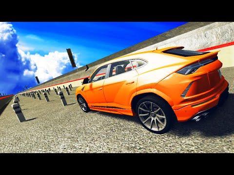 Cars VS Road Post - BeamNG DRIVE   CrashTherapy