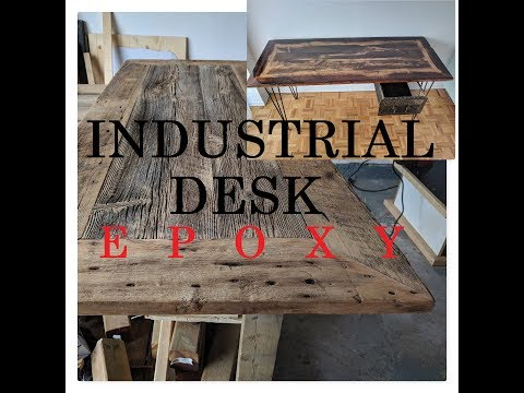 DiResta inspired. Industrial desk with metal hairpin legs and drawer. PLEASE SUBSCRIBE