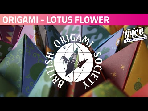 Origami with Reedpop | Let's Make.....A Lotus Flower