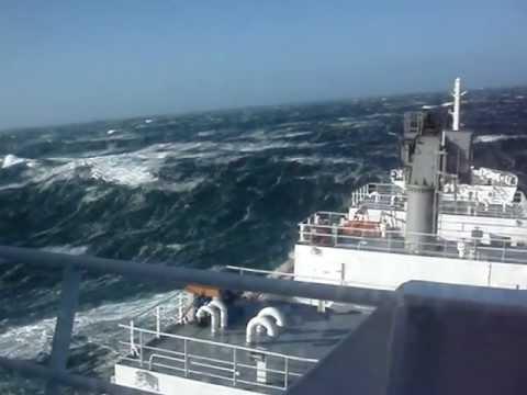 Северное море. Шторм