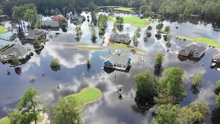 New Brunswick Country Club Homes flooded Waccamaw RIver Record Crest - Calabash, NC - 9/22/2018