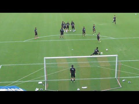 川崎フロンターレ シュート練習