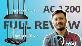 TPLink Archer C6; Version 3 & Version 2; AC1200 Dual Band Gigabit Router full Review and Speed Test
