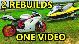 Rebuilding My Summer Toys That I Bought From Copart Jetski and Ducati SuperBike