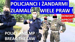 Policja i ŻW łamią wiele praw. Próba kryminalizowania obywatela podczas interwencji.
